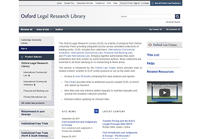 Oxford Legal Research Library